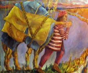 The Portable Burden a symbolic narrative painting