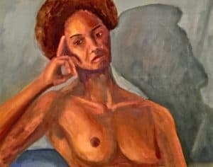 portrait painting of a nude woman