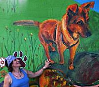 Mural with Big Dog